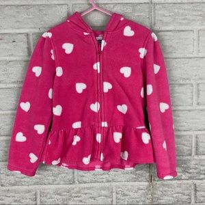 Old Navy Girl Size 5T Peplum Fleece Jacket